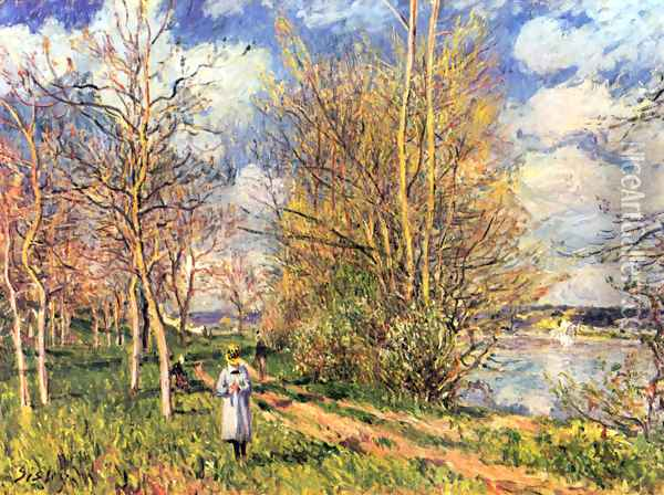 Les Petits Prs au printemps Oil Painting - Alfred Sisley