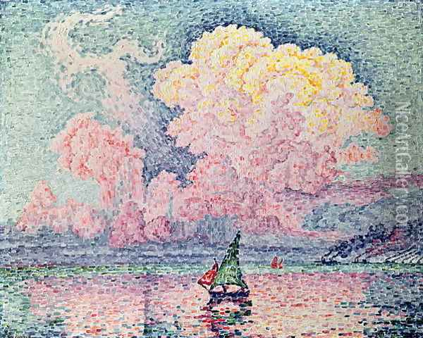 Antibes, the Pink Cloud, 1916 Oil Painting - Paul Signac