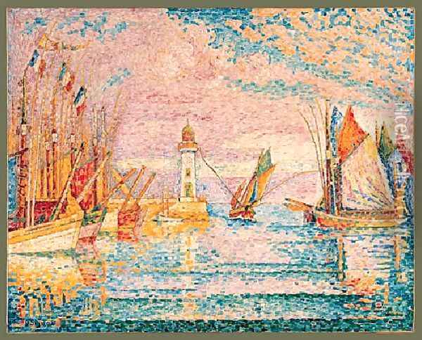 Lighthouse Groix Oil Painting - Paul Signac