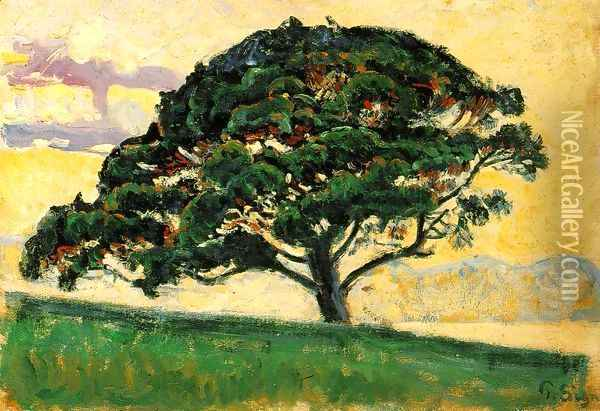 The Pine, Saint Tropez Oil Painting - Paul Signac