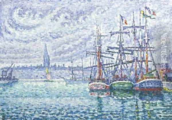 Bassin a flots saint malo oil painting reproduction by paul signac - Pneumologue bassin arcachon saint paul ...