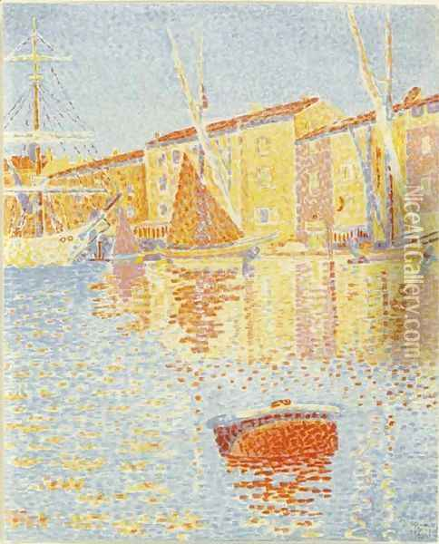 La Bouee (Saint-Tropez Le Port) Oil Painting - Paul Signac