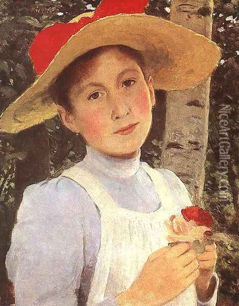 Rozsi Szinyei Merse, the Artists Daughter 1897 Oil Painting - Pal Merse Szinyei