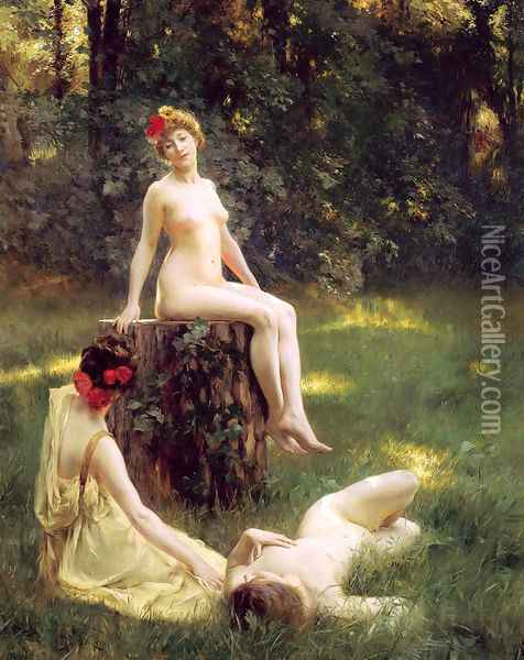 The Glade Oil Painting - Julius LeBlanc Stewart
