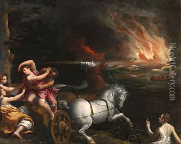 The Rape of Persephone oil painting reproduction by Ippolito Scarsella ...