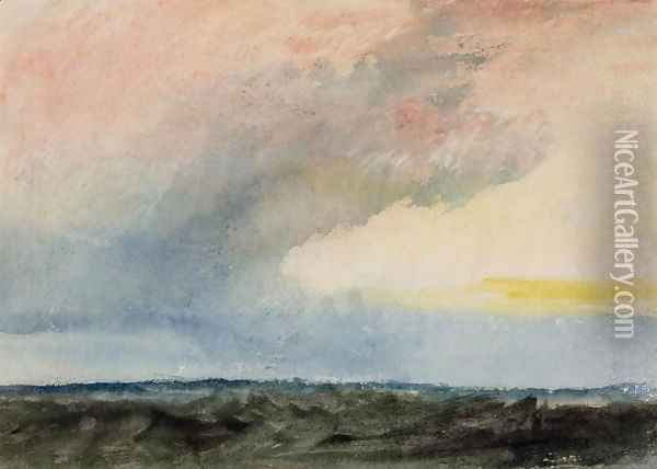 A Rainstorm at Sea Oil Painting - Joseph Mallord William Turner