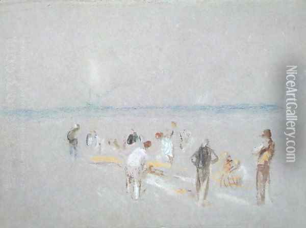 Cricket on the Goodwin Sands Oil Painting - Joseph Mallord William Turner
