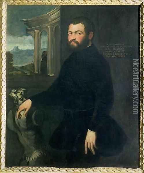 Jacopo Sansovino 1486-1570, originally Tatti, sculptor and State architect in Venice Oil Painting - Jacopo Tintoretto (Robusti)