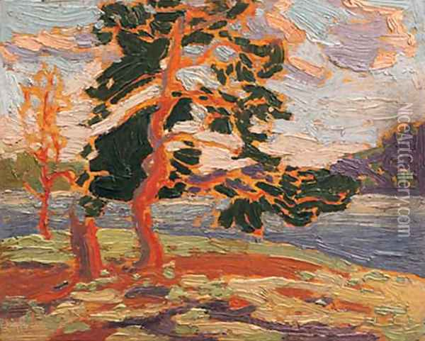 The Pine Tree Oil Painting - Tom Thomson