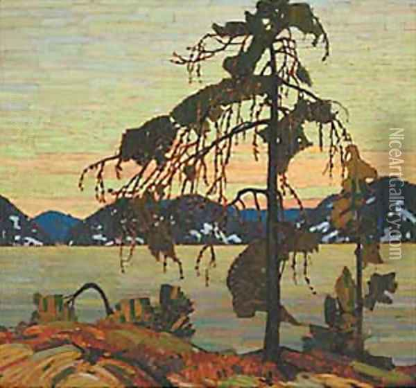 The Jack Pine Oil Painting - Tom Thomson