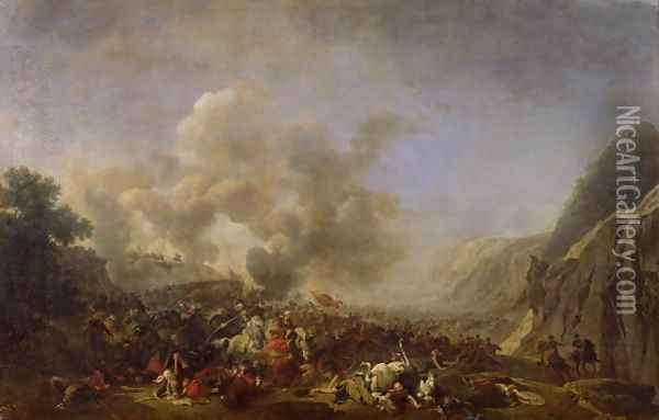 General Jean Andoche Junot 1771-1813 Duc dAbrantes, at the Battle of Nazareth, 8th April 1799 Oil Painting - Nicolas Antoine Taunay