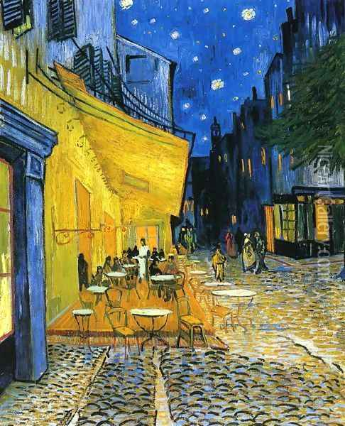 Cafe Terrace on the Place du Forum Oil Painting - Vincent Van Gogh
