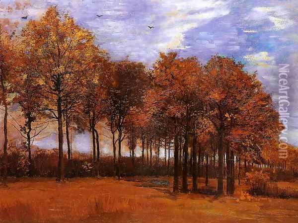 Autumn Landscape Oil Painting - Vincent Van Gogh