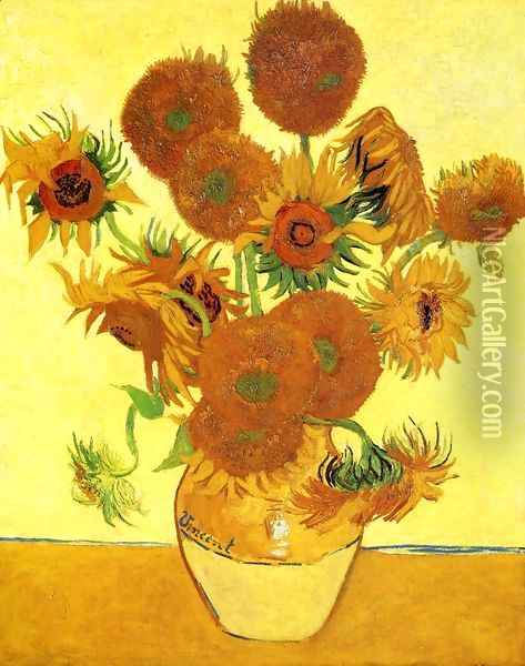 Sunflowers II Oil Painting - Vincent Van Gogh