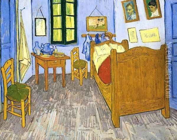 Vincent's Bedroom in Arles II Oil Painting - Vincent Van Gogh