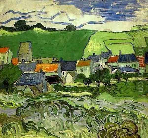 View Of Auvers Oil Painting - Vincent Van Gogh