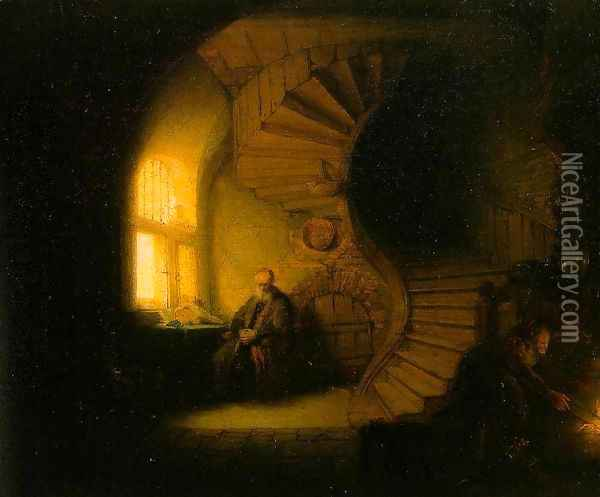 Philosopher in Meditation 1632 Oil Painting - Rembrandt Van Rijn