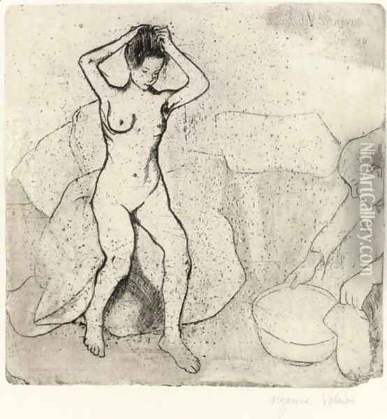 Louise nue sur le canape; and Grand-Mere et Enfant Oil Painting - Suzanne Valadon