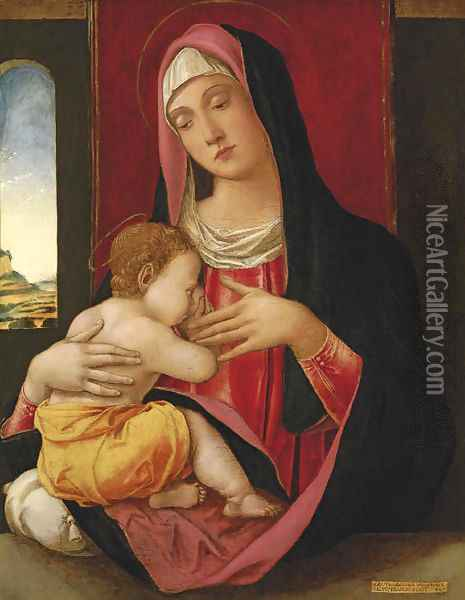 The Madonna and Child Oil Painting - Bartolomeo Vivarini