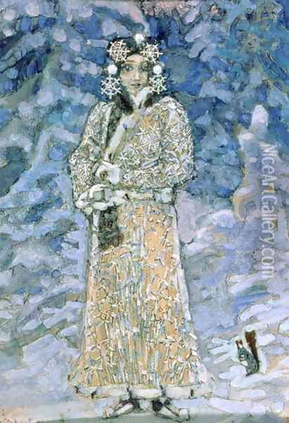 The Snow Maiden, a sketch for the Opera, 1890s Oil Painting - Mikhail Aleksandrovich Vrubel