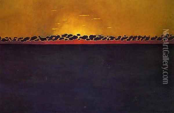 Sunset, Gray-Blue High Tide Oil Painting - Felix Edouard Vallotton