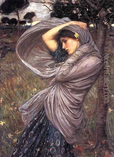 Boreas 1903 Oil Painting - John William Waterhouse