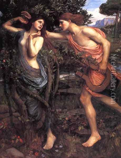 Apollo and Daphne 1908 Oil Painting - John William Waterhouse