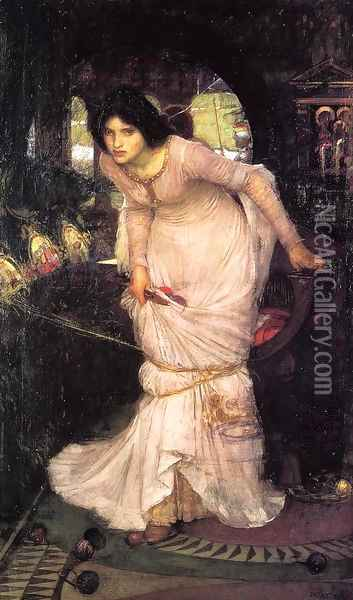 The Lady Of Shalott Oil Painting - John William Waterhouse