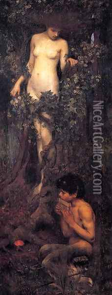 A Hamadryad 1893 Oil Painting - John William Waterhouse