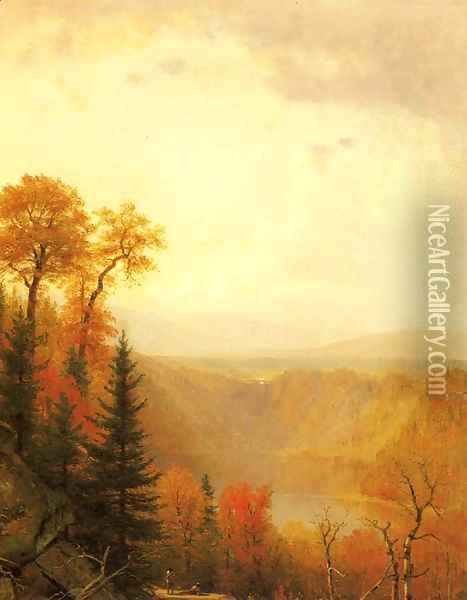 Kauterskill Clove Oil Painting - Thomas Worthington Whittredge