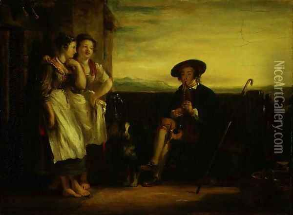 A Scene from the Gentle Shepherd, c.1823 Oil Painting - Sir David Wilkie