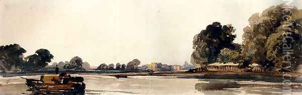 Cookham On The Thames Oil Painting - Peter de Wint