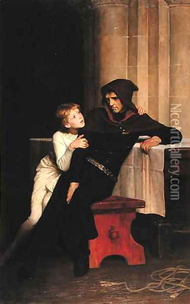 Prince Arthur and Prince Hubert, 1882 Oil Painting - William Frederick Yeames