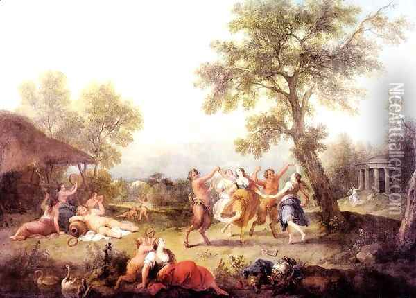 Bacchanal 1740-50 Oil Painting - Francesco Zuccarelli