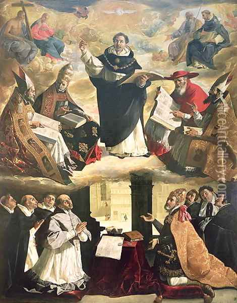 The Apotheosis of St. Thomas Aquinas, 1631 Oil Painting - Francisco De Zurbaran