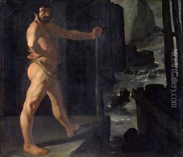 Hercules Changing the Course of the River Alpheus Oil Painting - Francisco De Zurbaran
