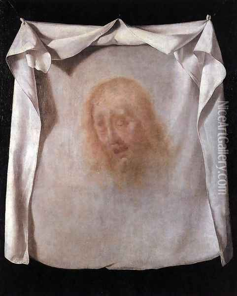 The Sudarium of St Veronica 1658-61 Oil Painting - Francisco De Zurbaran