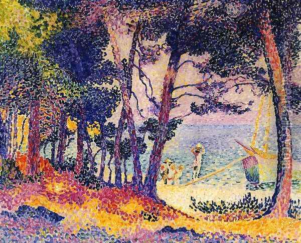 A Pine Grove, 1906 Oil Painting - Henri Edmond Cross