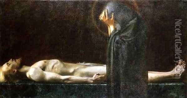 Pieta Oil Painting - Franz von Stuck