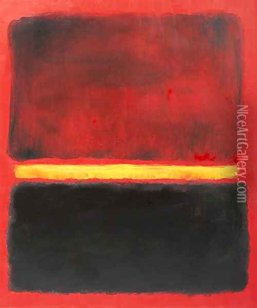 Untitled 1956 Oil Painting - Mark Rothko