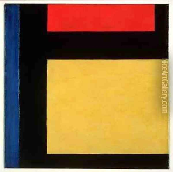Contra compositie Oil Painting - Theo van Doesburg
