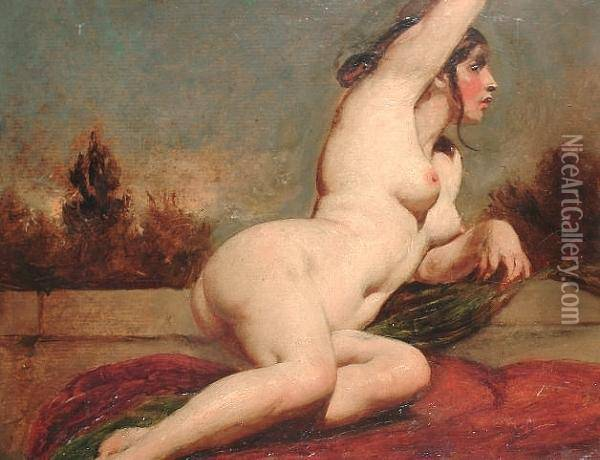 Phrase reclining female nude painting