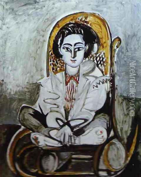 Jacqueline Rocque 1954 Oil Painting - Pablo Picasso