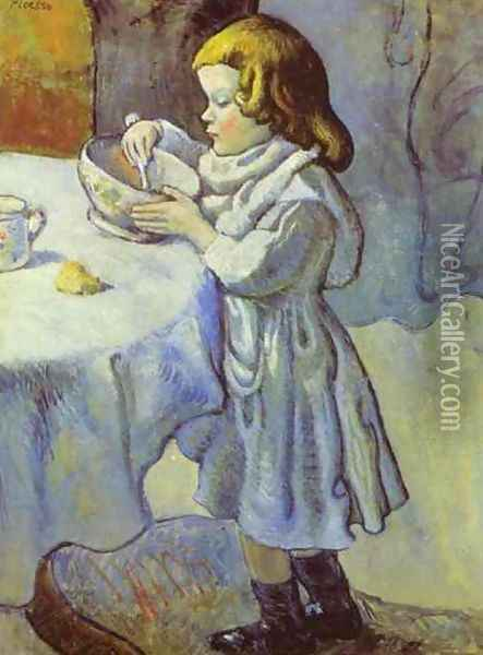 Le Gourmet Oil Painting - Pablo Picasso