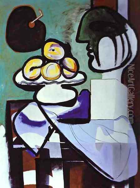 Still-Life 1932 Oil Painting - Pablo Picasso