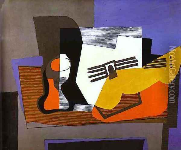 Still Life with Guitar 2 Oil Painting - Pablo Picasso