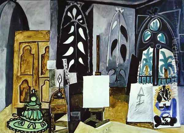 The Studio of 'La Californie' at Cannes Oil Painting - Pablo Picasso