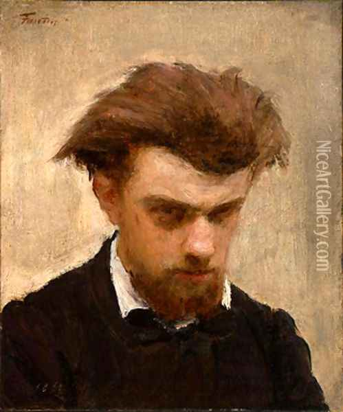 Self-Portrait 2 Oil Painting - Ignace Henri Jean Fantin-Latour