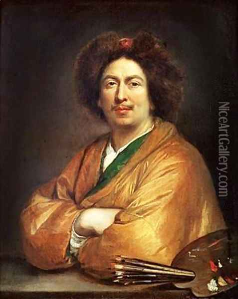 Self Portrait Oil Painting - Pierre Mignard