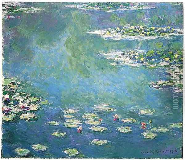 Nympheas 4 Oil Painting - Claude Oscar Monet